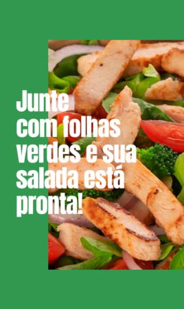 Junte com folhas verdes e sua salada está pronta!