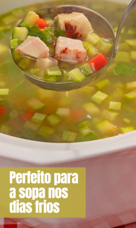 Perfeito para a sopa nos dias frios