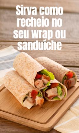 Sirva como recheio no seu wrap ou sanduíche